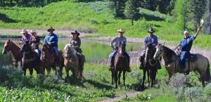 Horseback camping trip Jackson Hole Wyoming